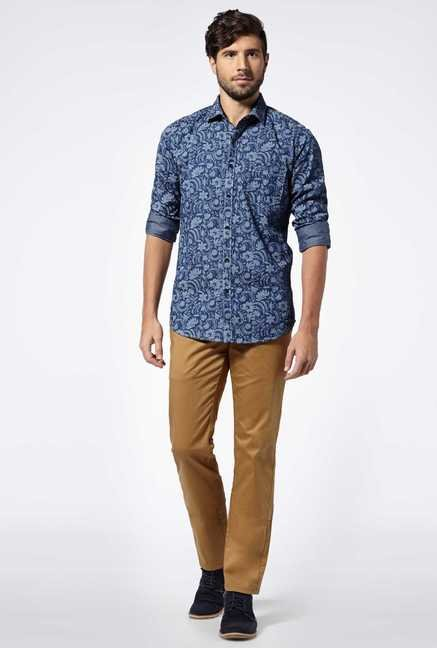 Easies Indigo Cotton Casual Shirt
