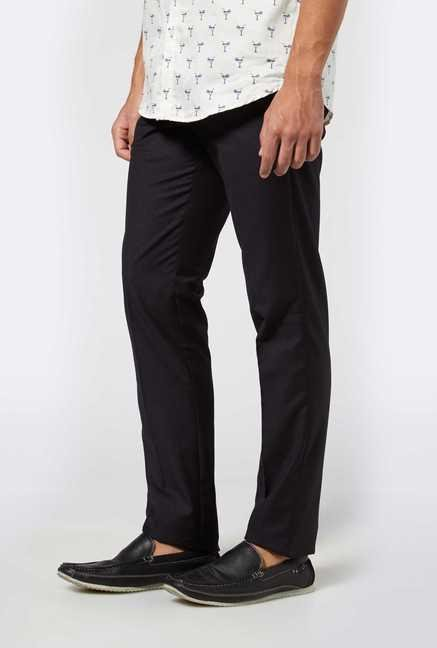 Easies Black Casual Trousers