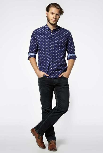 Killer Navy Pure Cotton Shirt