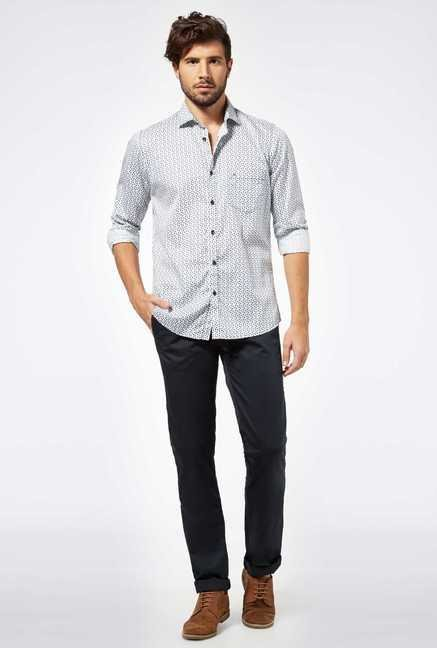 Easies White Cotton Casual Shirt