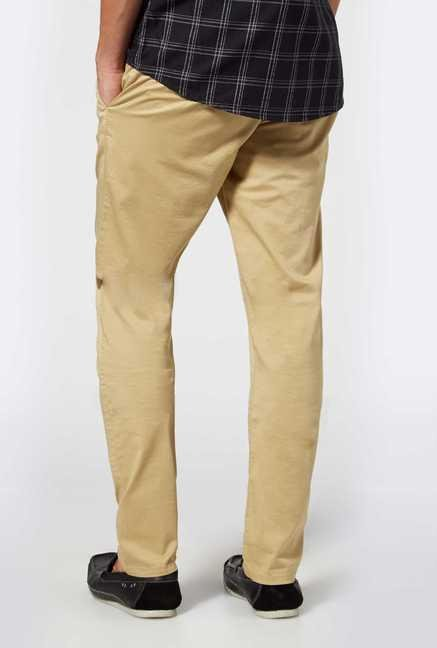 Easies Beige Casual Trousers