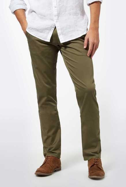 Easies Green Casual Trousers