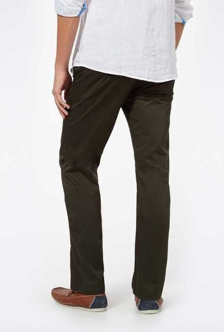 Easies Olive Casual Trousers