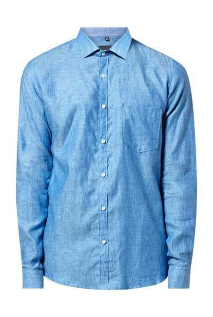 Easies Turquoise Tennis Linen Casual Shirt