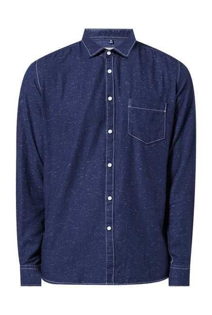 Easies Navy Utica Cotton Casual Shirt