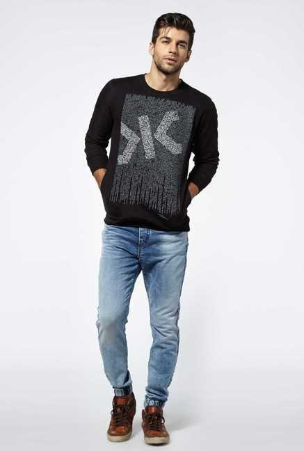 Killer Black Full Sleeve Coray Sweater