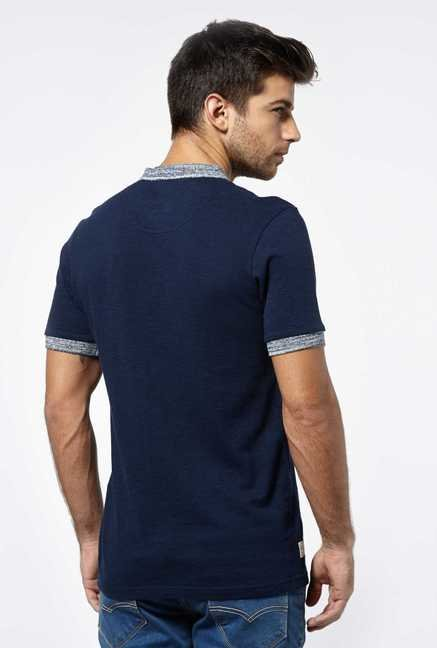 Killer Dark Navy Henley T-Shirt