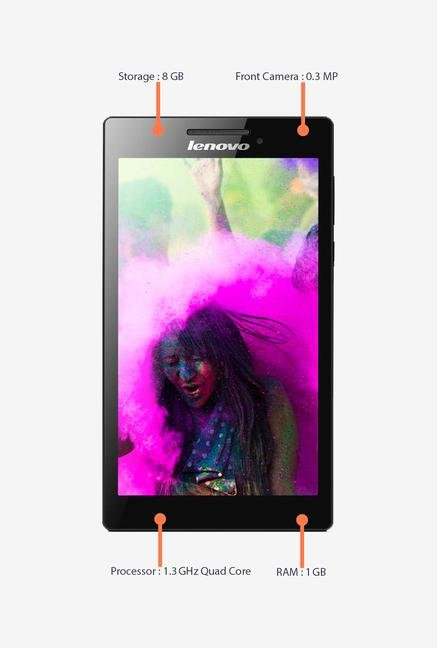 Lenovo Tab 2 A7-10 7-inch 8GB Tablet (Black)