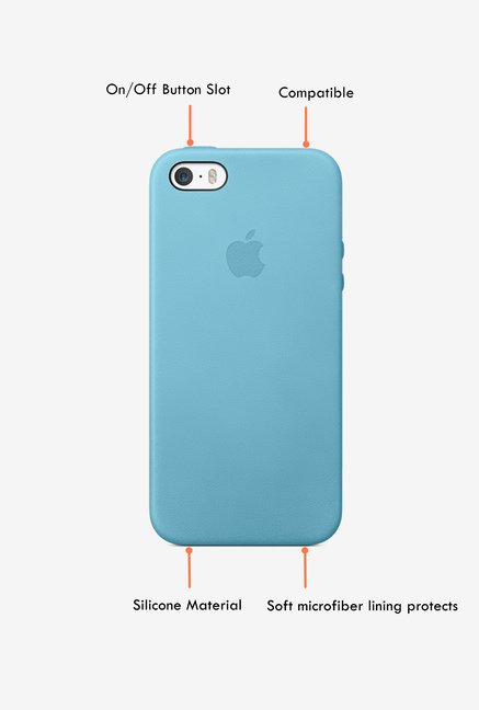 Apple iPhone 5s Leather Back Case (Blue)