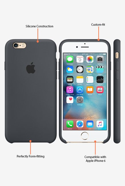 Apple iPhone 6 Silicone Back Case (Black)