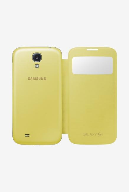 Samsung S4 Flip Cover Yellow