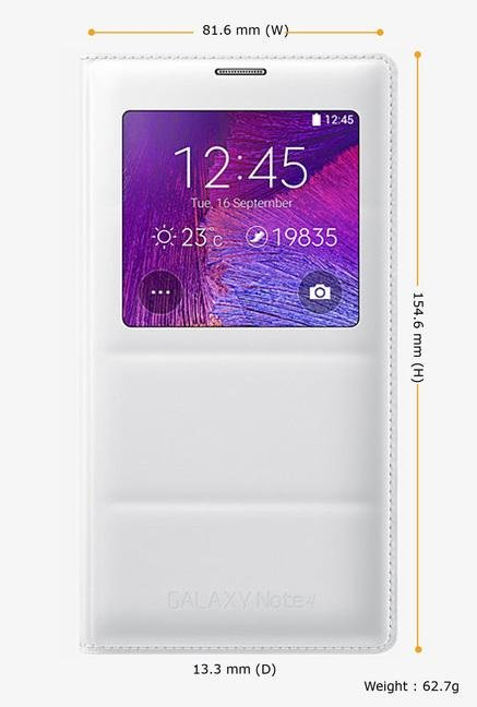 Samsung EF-CN910BWEGIN Mobile Flip Cover White