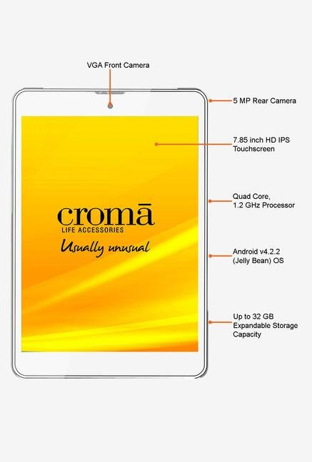 Croma CRXT1131 7.8-inch 8GB 3G Tablet (White)