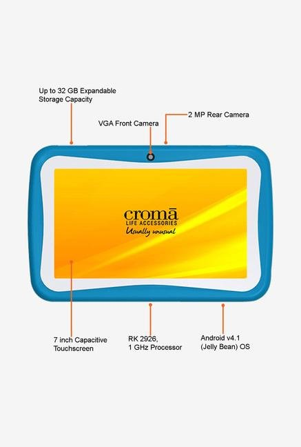 Croma CRXT1172 7-inch 4GB Kids Tablet (Blue)