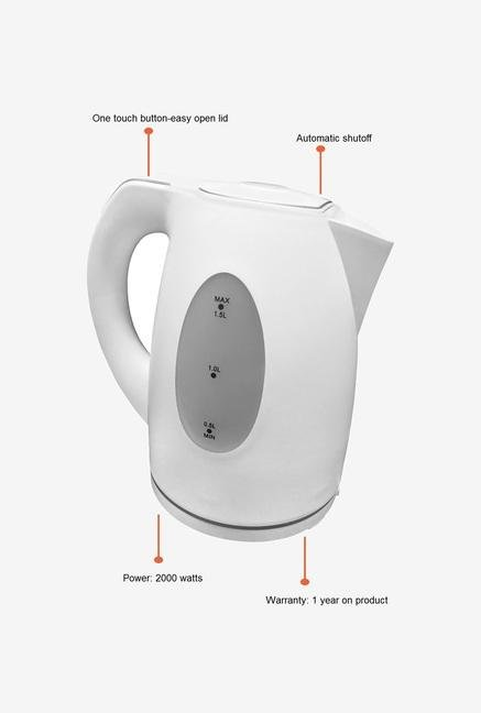 Chef Pro CPK835 1.5 Litres Electric Kettle (White)
