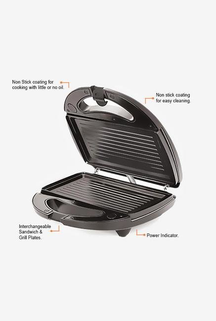 Chef Pro CPG813 800W Non-stick Grill Maker (Black)
