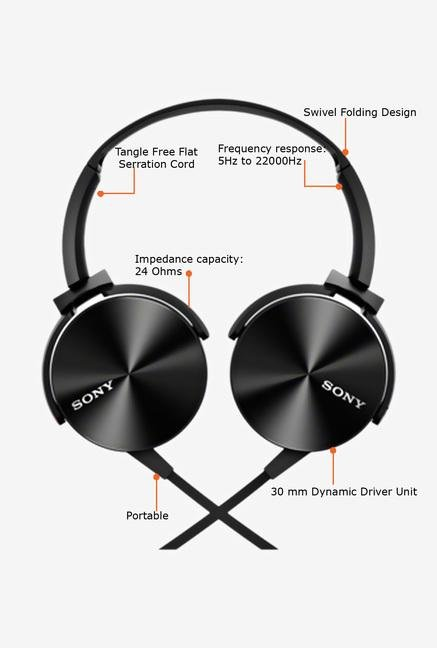 Sony MDR-XB450/B Headphone (Black)