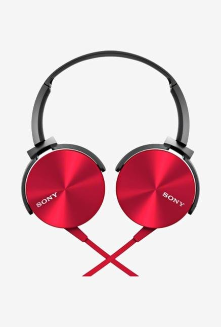 SSONY MDR-XB450AP Headphone With Mic (Red)