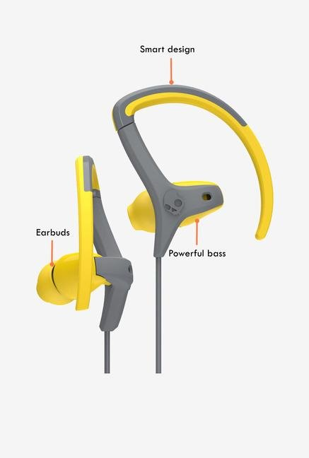 Skullcandy CHOPS S4CHGY-411 In The Ear Headphone Yellow/Grey