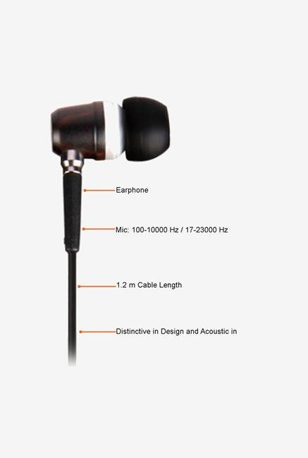 Circle Ebon In the Ear Headphone Black