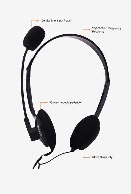 Intex Clear Chat Headphone Black