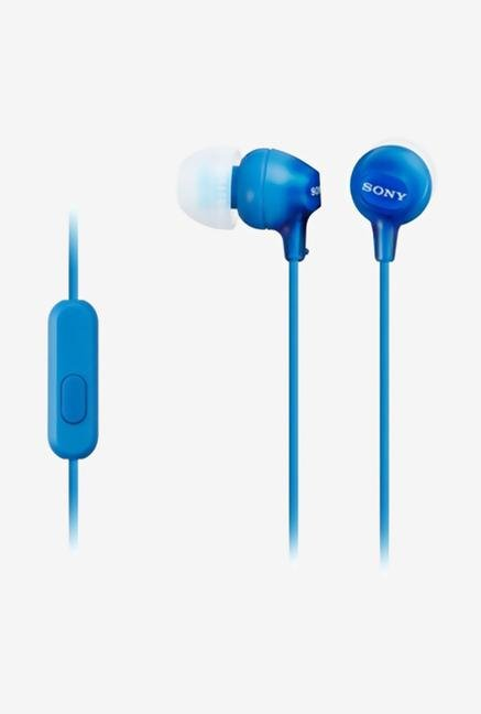 Sony MDR-EX15AP/L In the Ear Headphone With Mic (Blue)