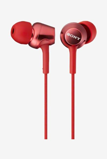 SONY MDR-EX250AP/R In the Ear Headphone Red