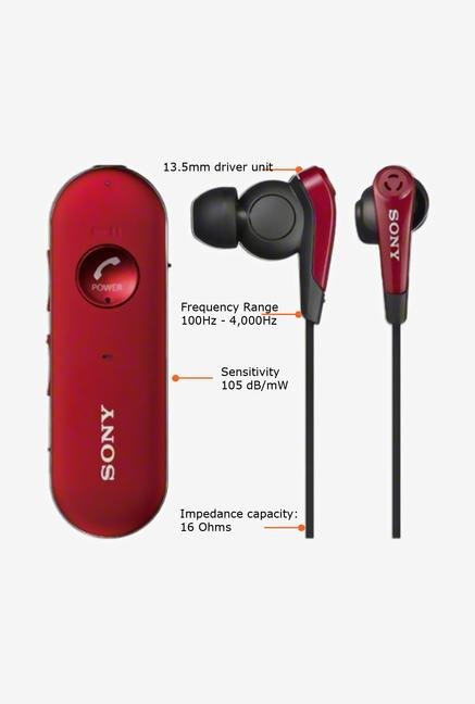 SONY MDR-EX31BN/R In the Ear Headphone Red