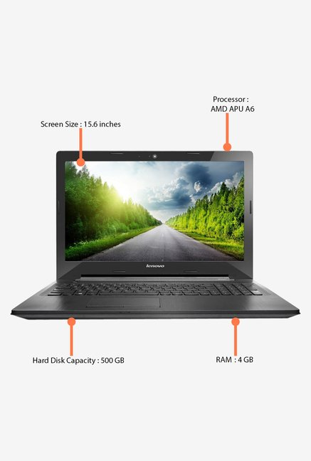 LENOVO G50-45 80E300GWIN 15.6 Inch Laptop (Black)