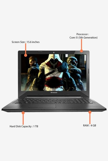 Lenovo G50-80 80E501LRIN Laptop (Black)