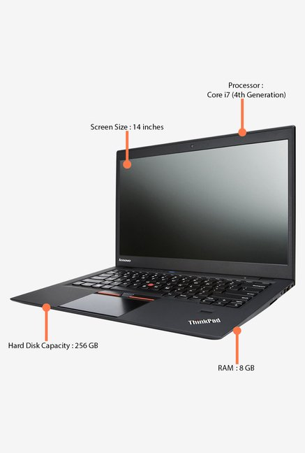 LENOVO X1 Carbon 20A80056IG 14 in. 256 GB HDD Laptop (Black)