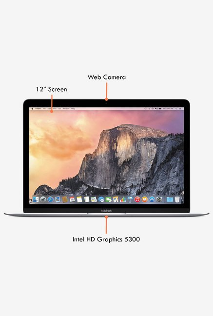 Apple MacBook MF855HN/A 30.48cm (Intel Core M, 256GB) Silver