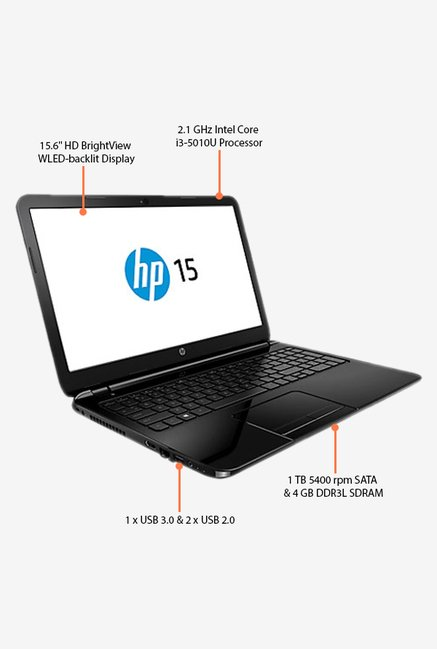 HP 15-R206TX 39.62cm Laptop (Intel Core i3, 1TB) Black