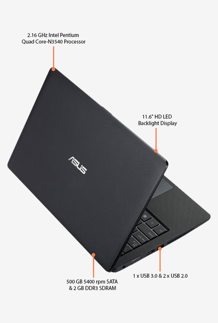 Asus X200MA-KX495B Laptop Black