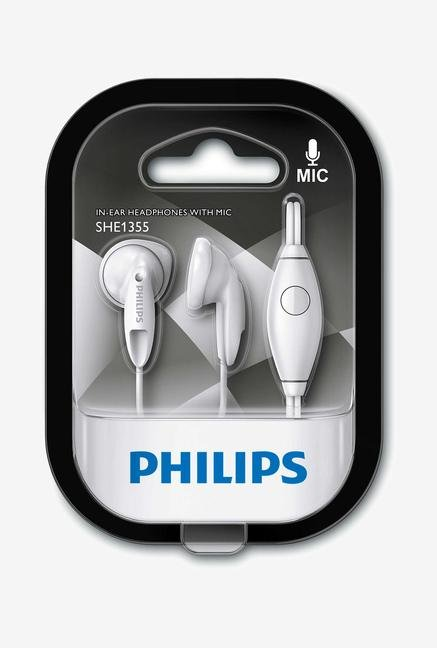 Philips SHE1355WT/00 In the Ear Headphone White