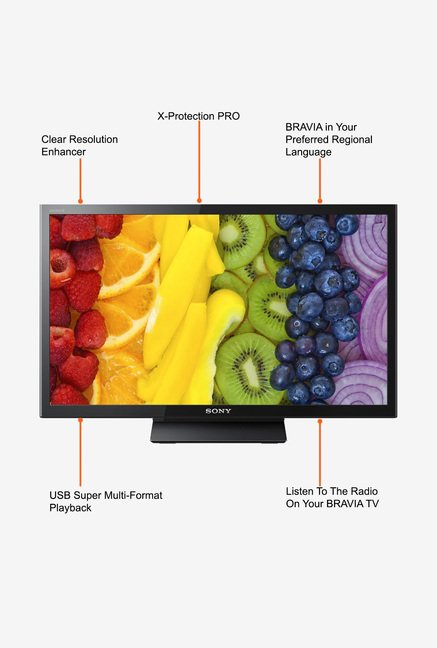 Sony Bravia KLV-24P412C 61 cm (24) HD Ready LED TV (Black)