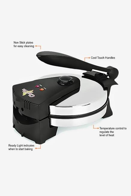 Chef Pro FBM208 850W Electric Roti Maker (Silver)