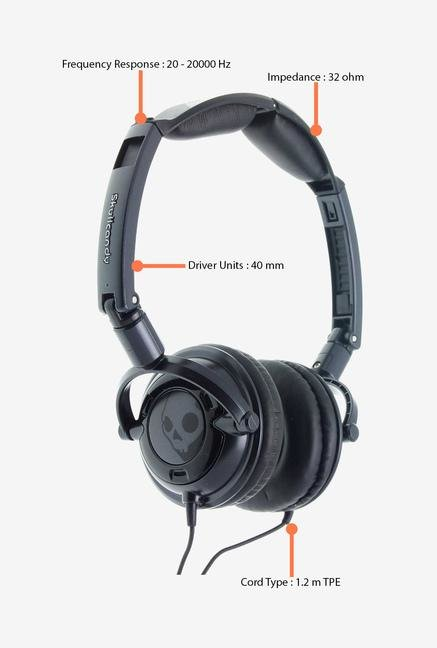 Skullcandy Lowrider S5LWFY-223 Headphone Black