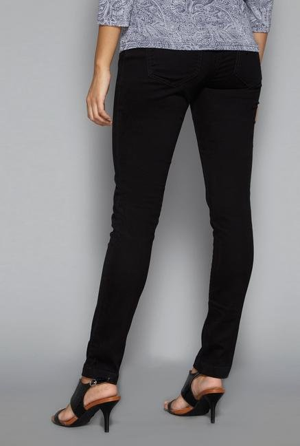 LOV Black Denim Trousers