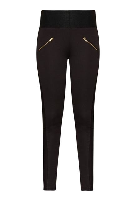 Nuon by Westside Black Polyster Trousers