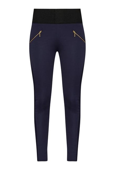 Nuon by Westside Navy Polyster Trousers
