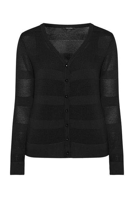 Wardrobe Black Pointy Cardigan