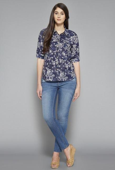 LOV Navy Ash Blouse