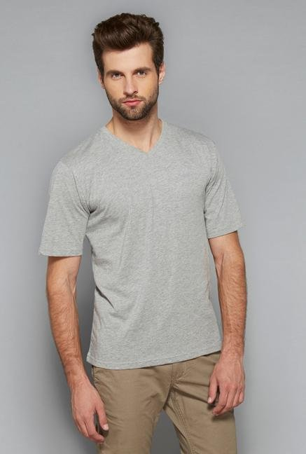 Westsport Mens Grey Cotton T Shirt
