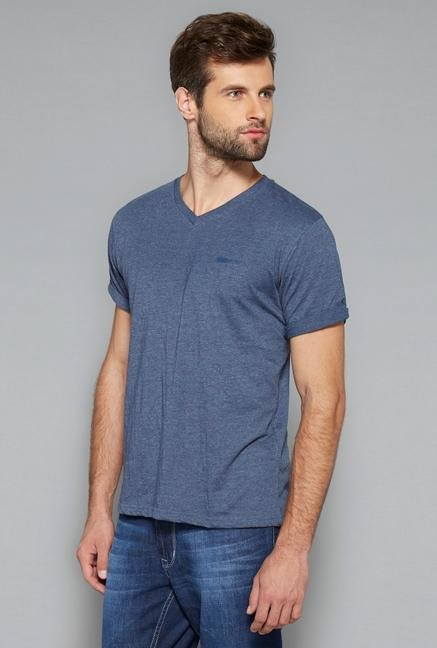 Westsport Mens Indigo Cotton T Shirt