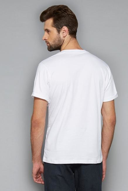 Westsport Mens White Cotton T Shirt