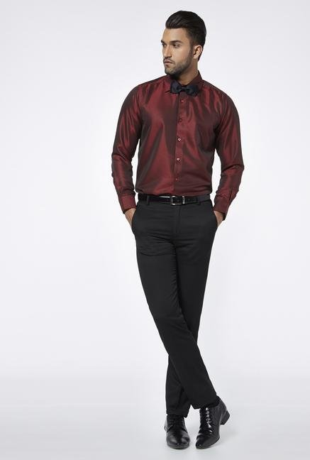 Provogue Red Regular Fit Shirt