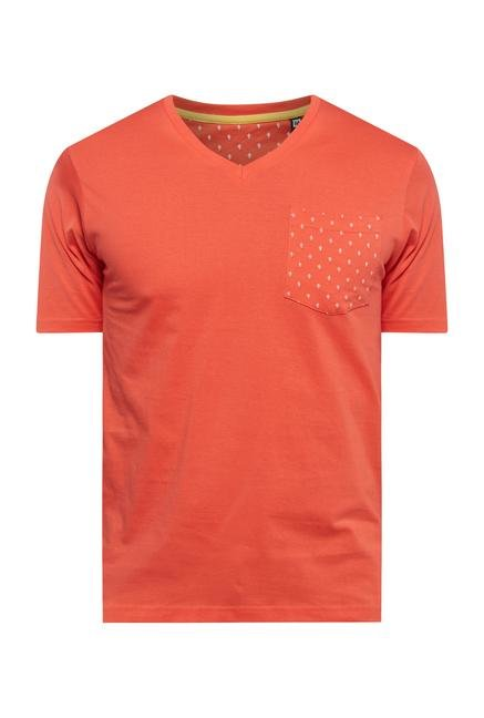 Provogue Red V Neck T Shirt