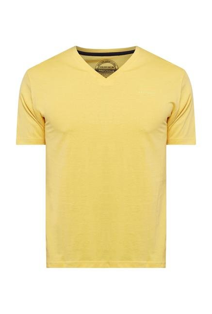 Provogue Yellow V Neck T Shirt