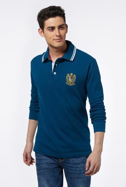 Provogue Blue Polo T Shirt